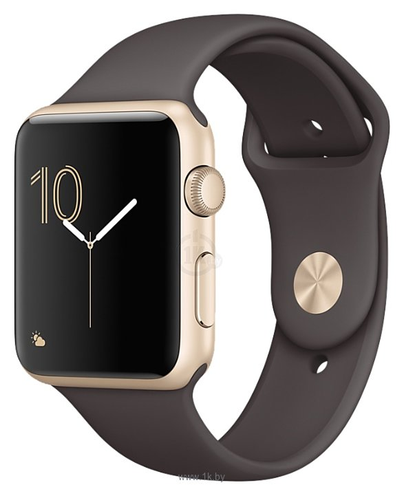 Фотографии Apple Watch Series 2 42mm Gold with Cocoa Sport Band (MNPN2)