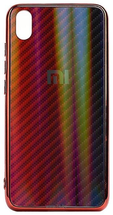 Фотографии EXPERTS Aurora Glass для Xiaomi Redmi 7A с LOGO (красно-синий)