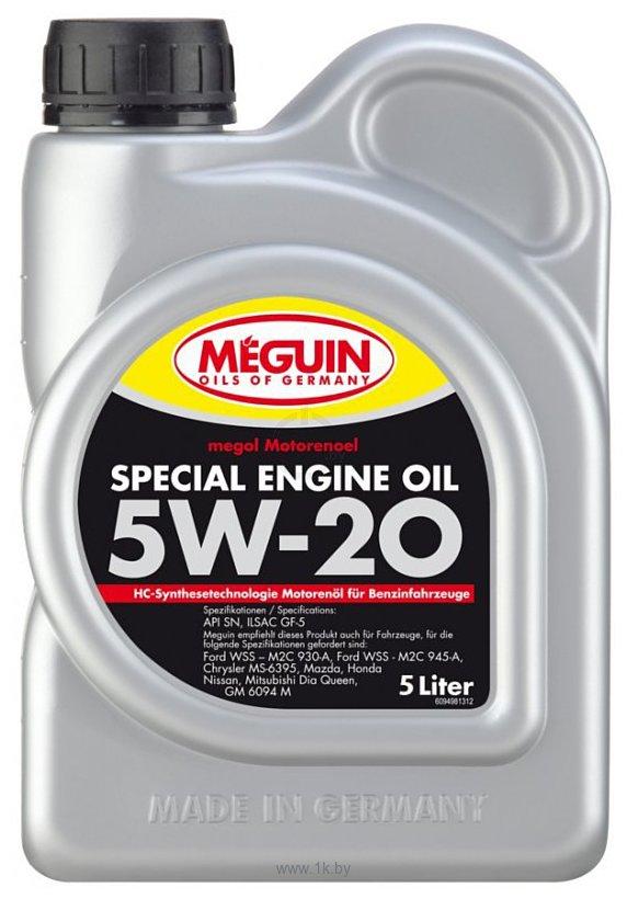 Фотографии Meguin Megol Special Engine Oil 5W-20 5л (9499)