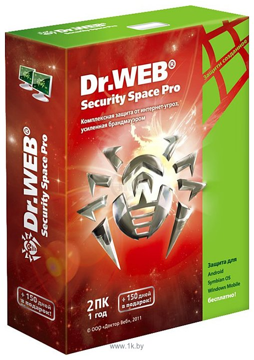 Фотографии Dr.Web Security Space Pro (1 ПК, 1 год)