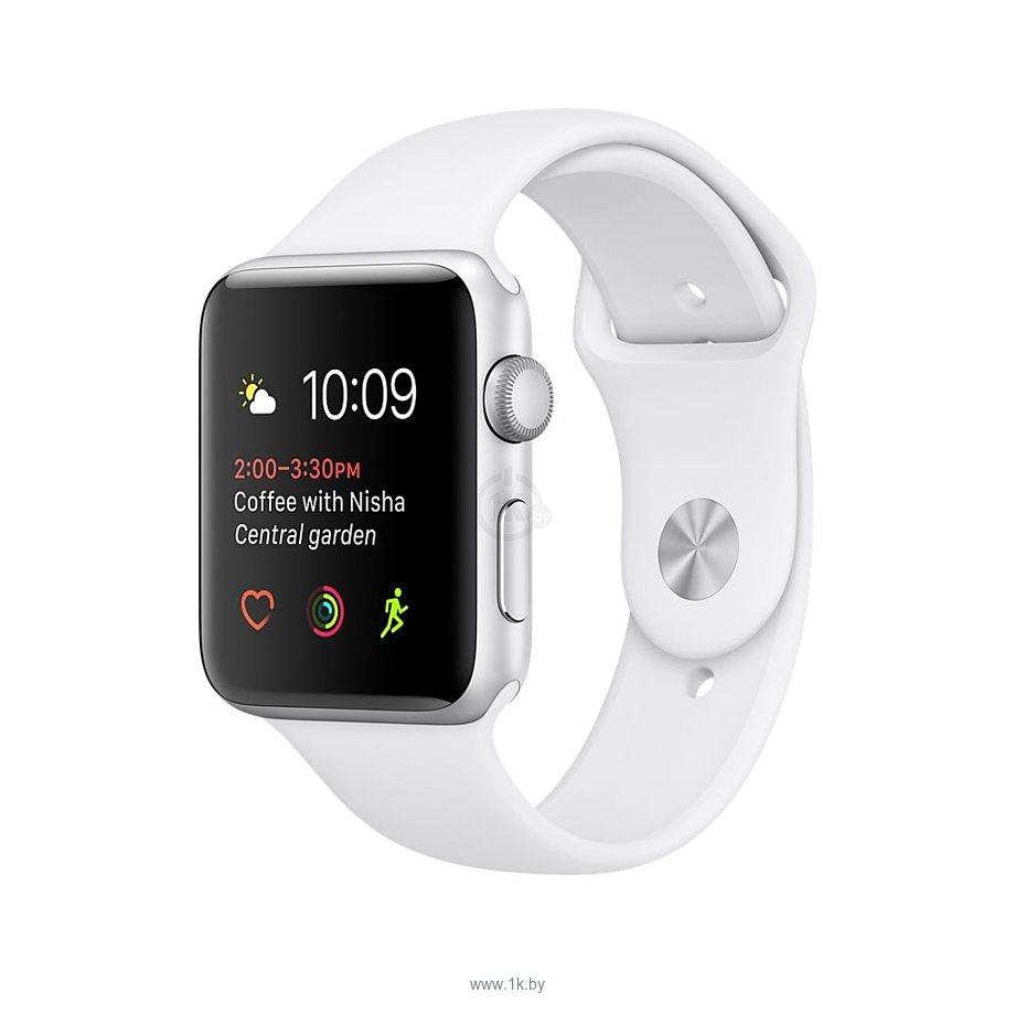 Фотографии Apple Watch Series 2 38mm Silver with White Sport Band (MNNW2)