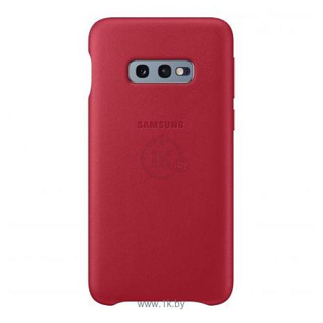 Фотографии Samsung Leather Cover для Samsung Galaxy S10e (красный)