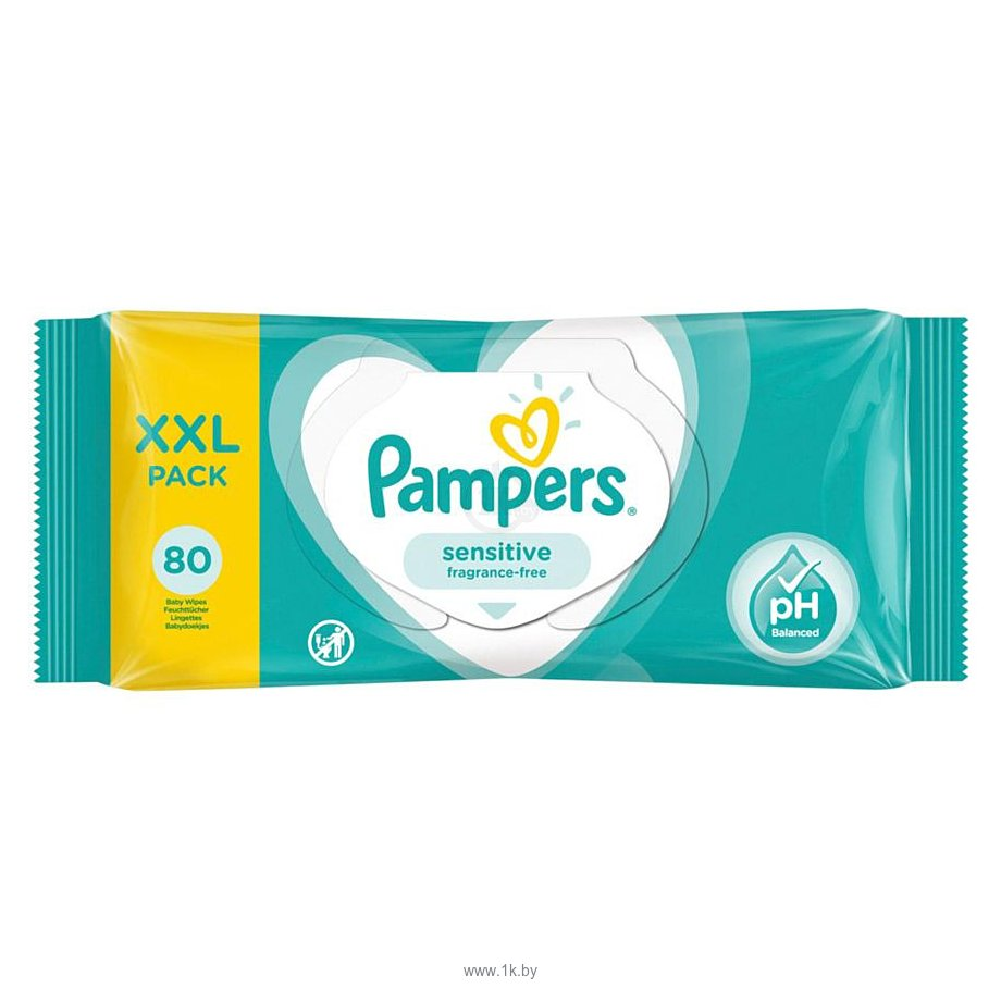 Фотографии Pampers Sensitive 80 шт