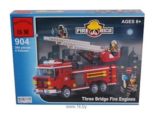 Фотографии Enlighten Brick Пожарные 904 Пожарные машины