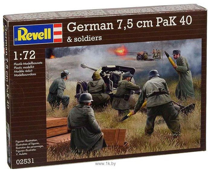Фотографии Revell 02531 Немецкое противотанковое орудие PaK40