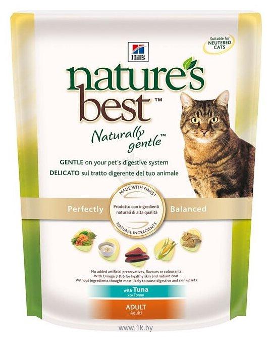 Фотографии Hill's Nature's Best Feline Adult with Tuna dry (0.3 кг)