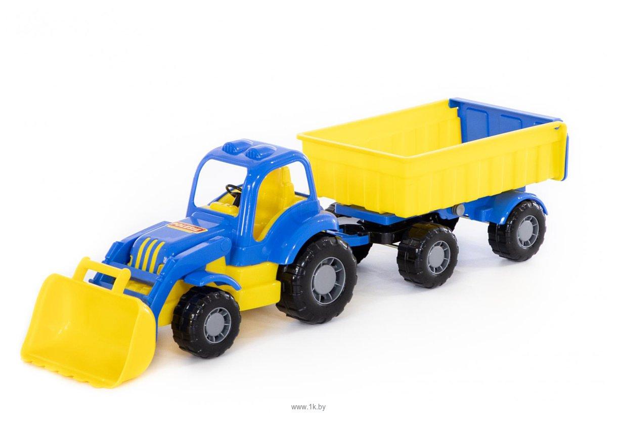 Фотографии Полесье Силач трактор с прицепом №1 и ковшом 45027