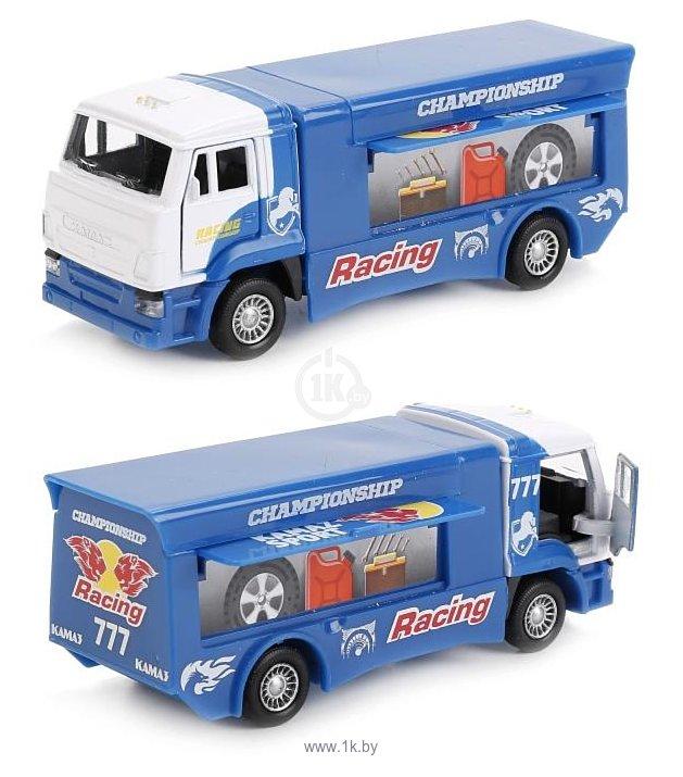 Фотографии Технопарк Камаз Спортивный раллийный грузовик SB-16-74-A-WB