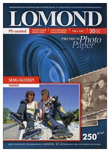 Фотографии Lomond Semi Glossy Warm 10x15 250 г/кв.м 20 листов (1103305)