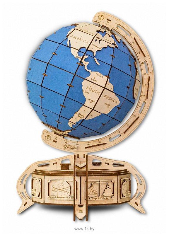 Фотографии Eco-Wood-Art Глобус (голубой)