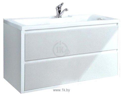 Фотографии Акватон Римини 80 Тумба под умывальник белый (1.A138.3.01R.N01.0)