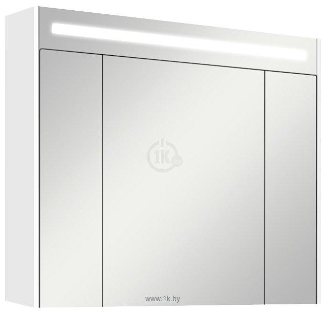Фотографии Акватон Блент 80 Зеркальный шкаф белый (1.A161.0.02B.L01.0)