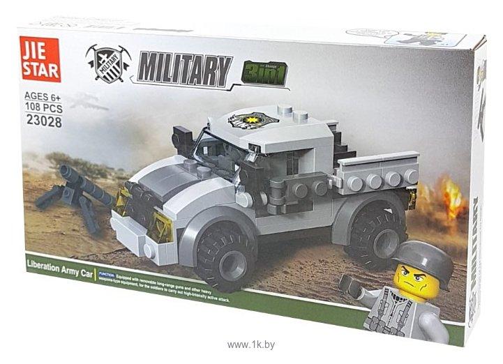 Фотографии Jie Star Military 23028 Машина армии Освобождения 3 в 1