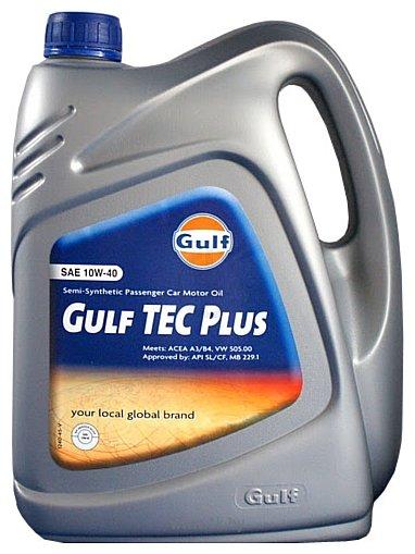 Фотографии Gulf Tec Plus 10W-40 4л