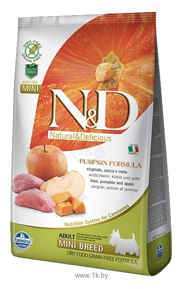 Фотографии Farmina (2.5 кг) N&D Grain-Free Canine Pumpkin Boar & Apple Adult Mini