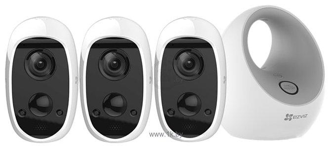 Фотографии Ezviz 3 камеры C3A + W2D