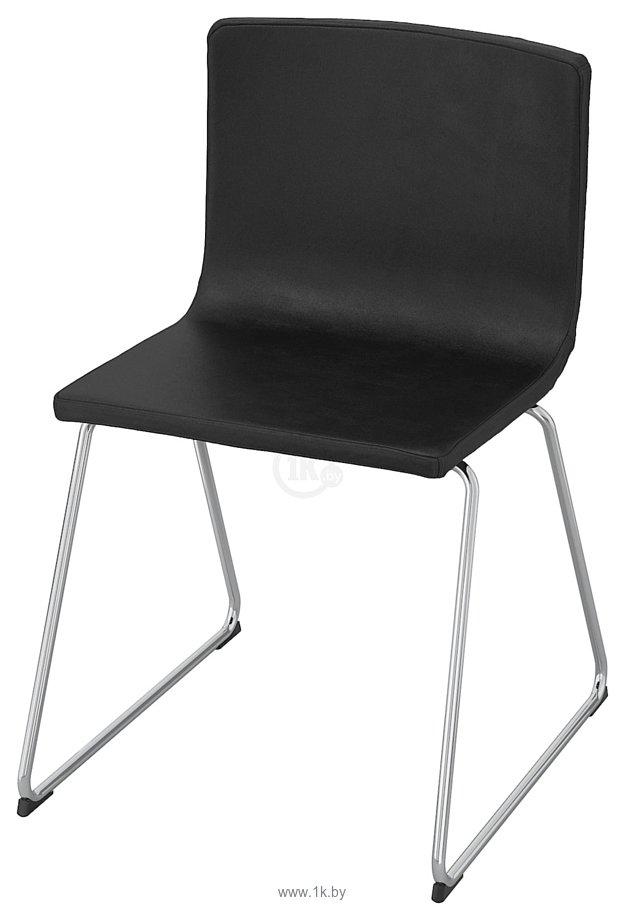 Фотографии Ikea Бернгард (мьюк темно-коричневый/хром) (903.597.92)
