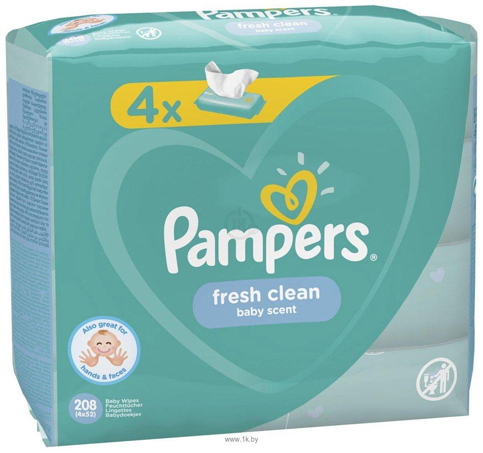 Фотографии Pampers Fresh Clean (4x52шт)