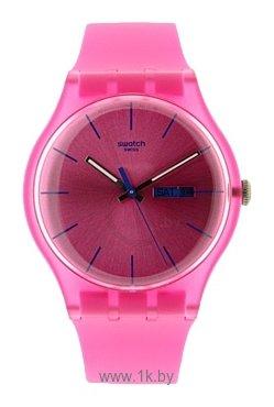Tweet. или все. наручные часы Swatch. женские, кварцевые, форма: круг, аналоговый (стрелки), водонепроницаемые WR30