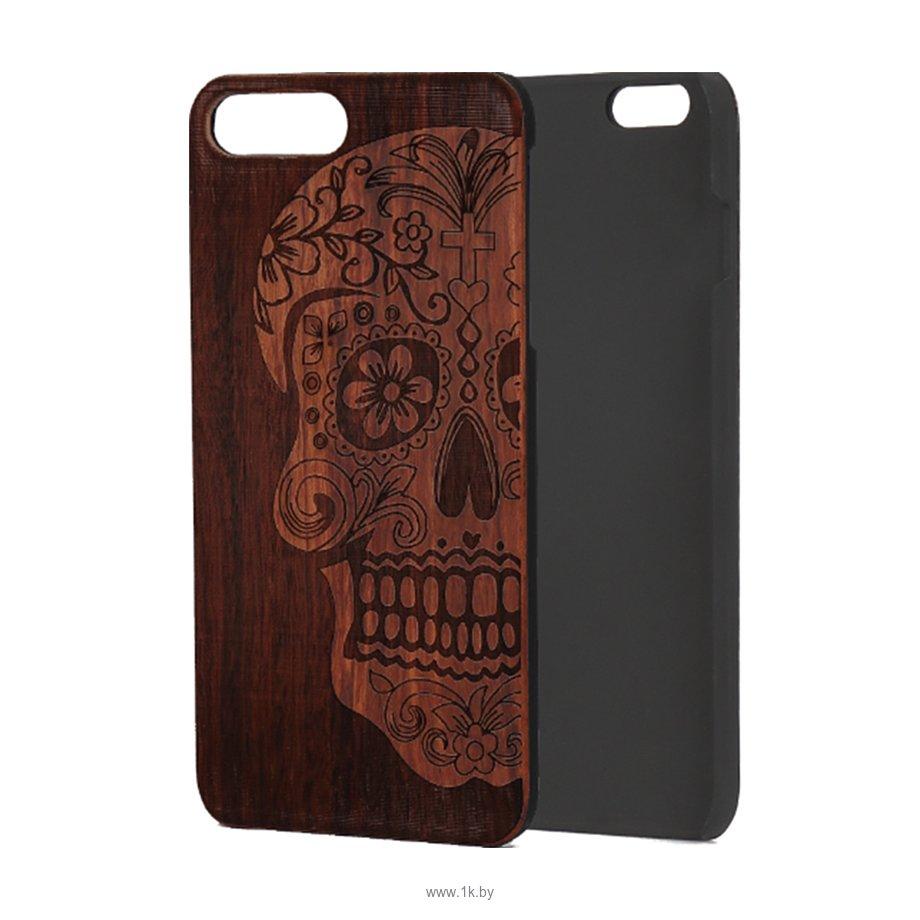 Фотографии Case Wood для Apple iPhone 7/8 (палисандр, череп женский)