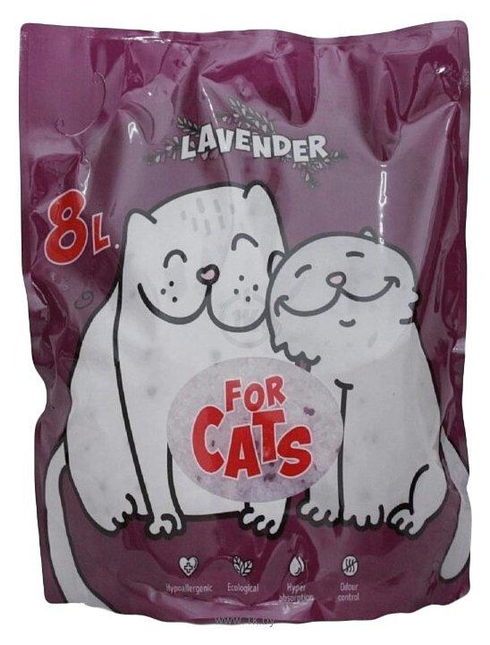Фотографии For Cats с ароматом лаванды 8л