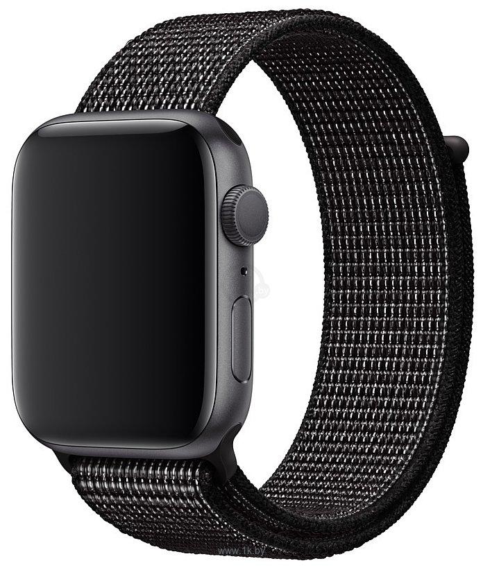 Фотографии Apple Nike из плетеного нейлона 44 мм (черный) MX812