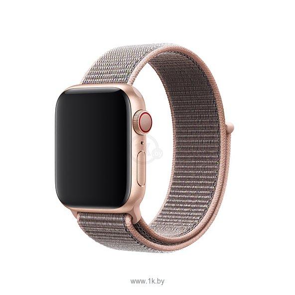 Фотографии Apple из плетеного нейлона 44 мм (розовый песок) MTM92ZM