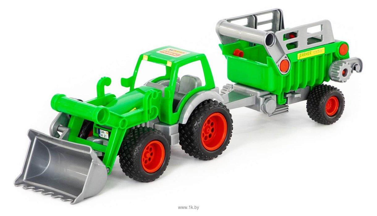 Фотографии Полесье Фермер-техник трактор-погрузчик с полуприцепом №2 46505