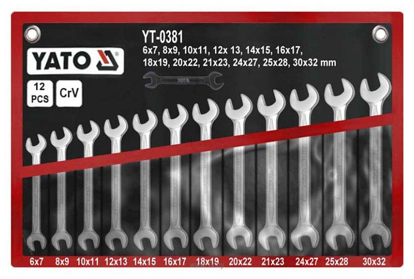 Фотографии Yato YT-0381 12 предметов