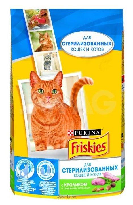 Фотографии Friskies Для стерилизованных кошек и котов с кроликом и полезными овощами (1.5 кг)