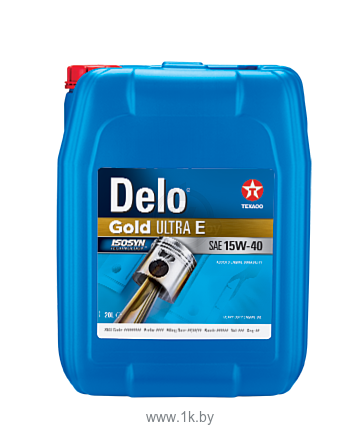 Фотографии Texaco Delo Gold Ultra E 15W-40 20л
