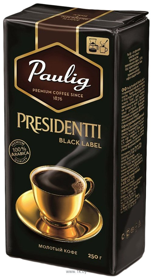 Фотографии Paulig Presidentti Black Label молотый 250 г