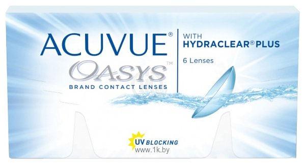 Фотографии Acuvue Oasys with Hydraclear Plus -6 дптр 8.4 mm