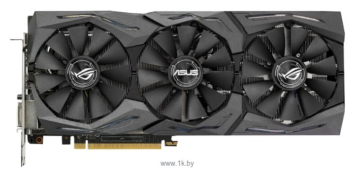 Фотографии ASUS GeForce GTX 1080 1695Mhz PCI-E 3.0 8192Mb 11010Mhz 256 bit DVI 2xHDMI HDCP Strix OC