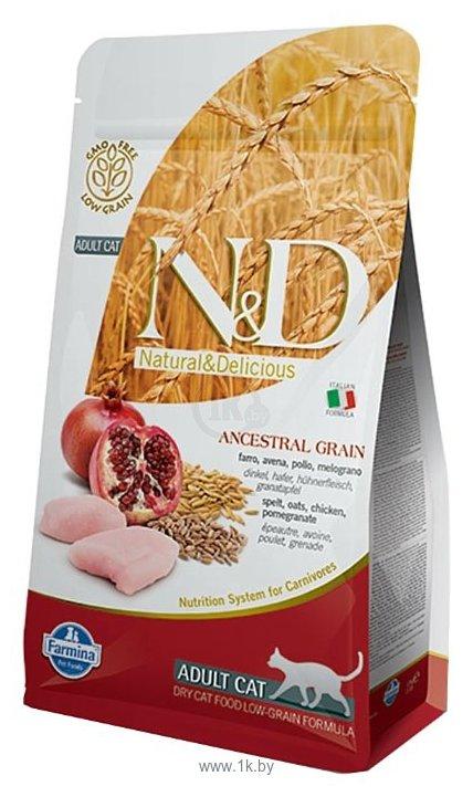 Фотографии Farmina N&D Low-Grain Feline Chicken & Pomegranate Adult (10 кг)