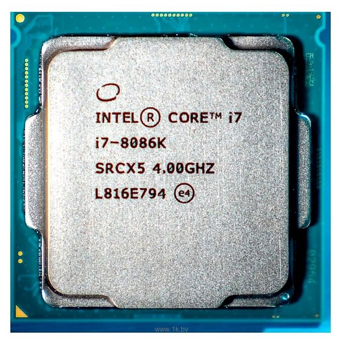 Фотографии Intel Core i7-8086K Coffee Lake (4000MHz, LGA1151 v2, L3 12288Kb)