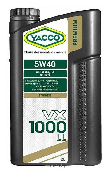 Фотографии Yacco VX 1000 LL 5W-40 2л
