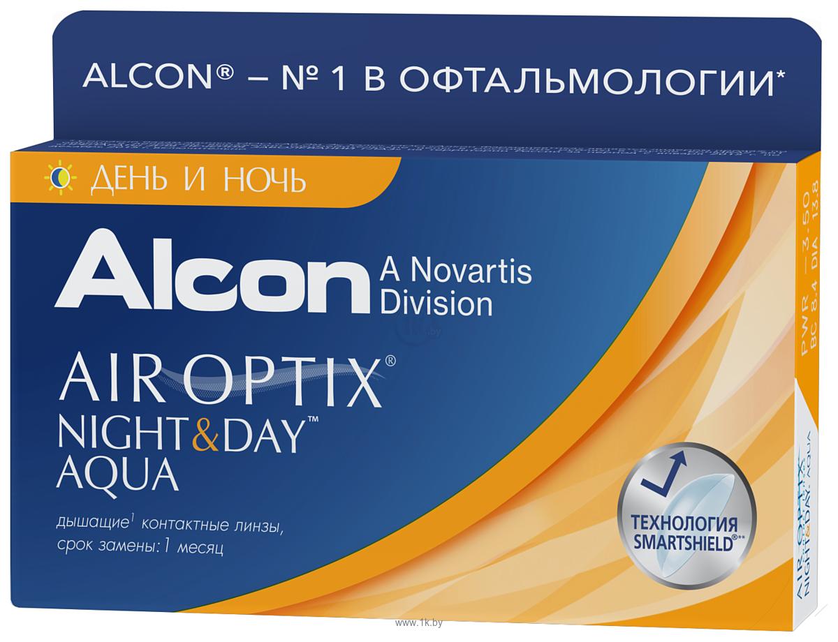 Фотографии Alcon Air Optix Night & Day Aqua +3.5 дптр 8.6 mm