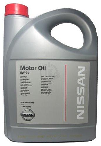 Фотографии Nissan Motor Oil 5W-30 5л (KE900-99943)