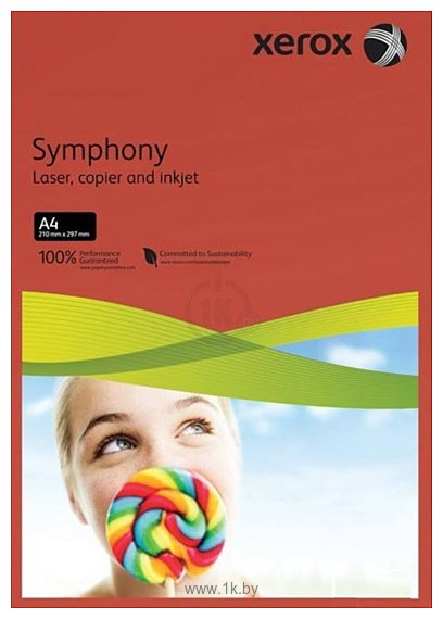 Фотографии Xerox Symphony Dark Red A4, 500л (80 г/м2) (003R93954)