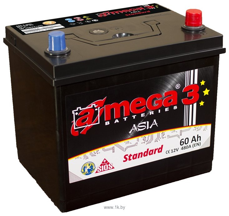 Фотографии A-mega Standard 60 JR Asia (60Ah)