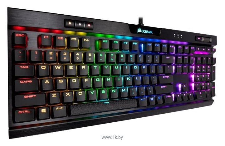 Фотографии Corsair K70 RGB MK.2 Mechanical Gaming Keyboard (CHERRY MX Silent) Black USB