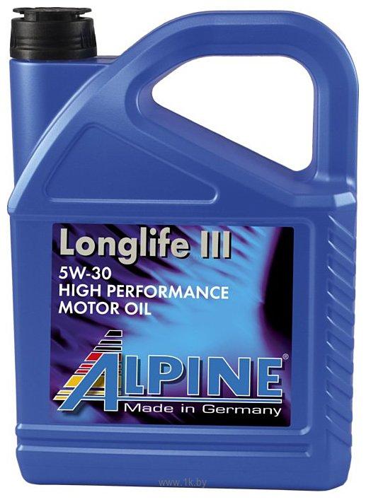 Фотографии Alpine Longlife III 5W-30 5л