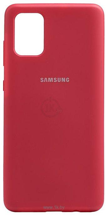 Фотографии EXPERTS SOFT-TOUCH case для Samsung Galaxy M31 с LOGO (малиновый)