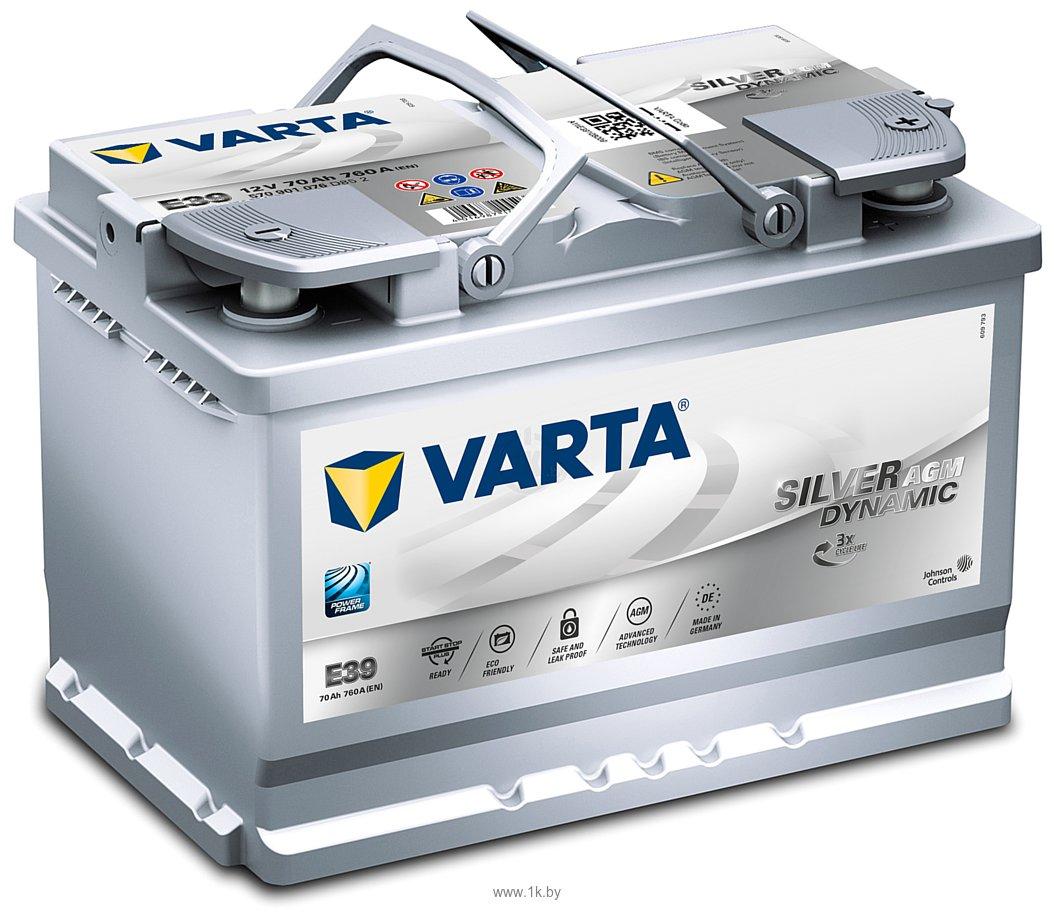 Фотографии Varta Silver Dynamic AGM 570 901 076 (70Ah)