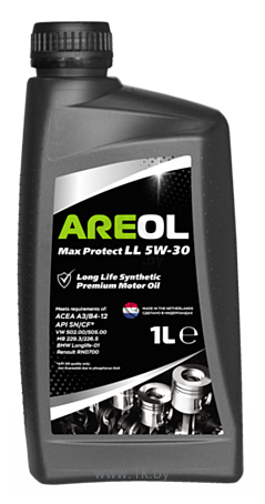 Фотографии Areol Max Protect LL 5W-30 1л