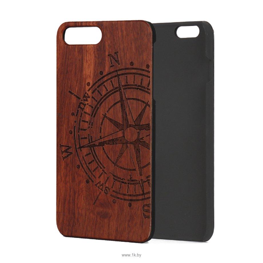 Фотографии Case Wood для Apple iPhone 7/8 (палисандр, компас)