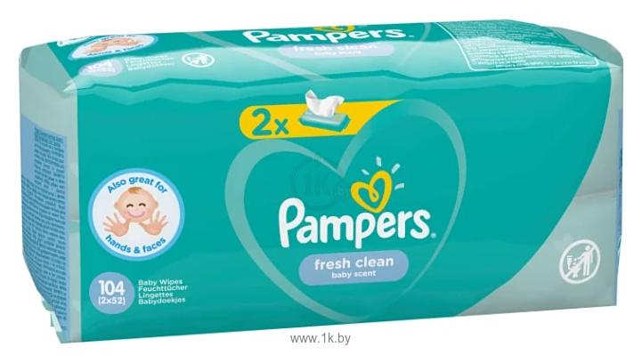 Фотографии Pampers Fresh Clean (2x52шт)