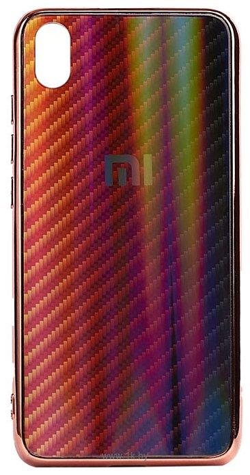 Фотографии EXPERTS Aurora Glass для Xiaomi Redmi 7A с LOGO (красно-черный)