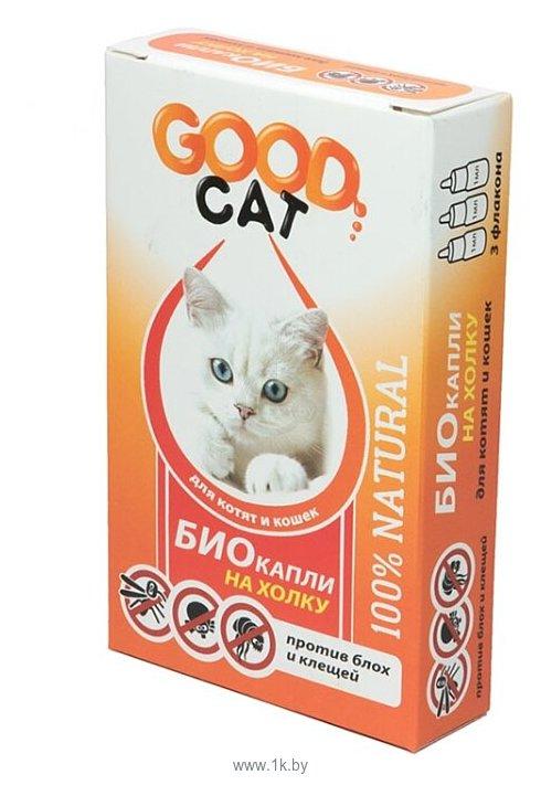Фотографии Good Dog БИО капли для Котят и Кошек от блох и клещей 1мл